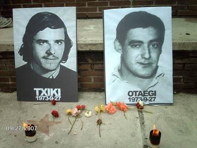El recuerdo de los fusilados de 1975 sigue vivo 41 años después