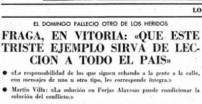 La impunidad marca el 40  aniversario de la matanza de Vitoria